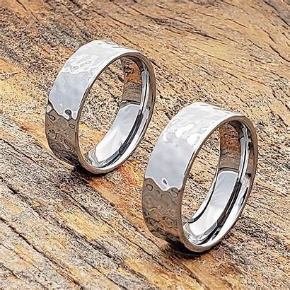 Hammered Rings Flat Mens Ring Forevermetals Finish