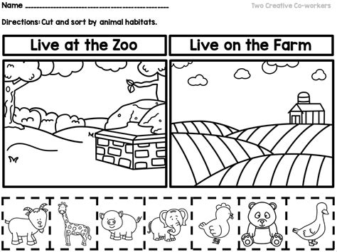 Animal Habitats {printable Book, Sorting Worksheets, & Posters}  Science  Pinterest Animal