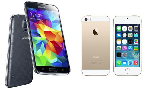 samsung galaxy s5 phone galaxy s5 vs iphone 5s comparison review big bold
