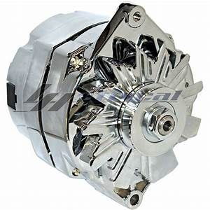 Chrome High Output Alternator For Olds Oldsmobile Delta Cutlass 3