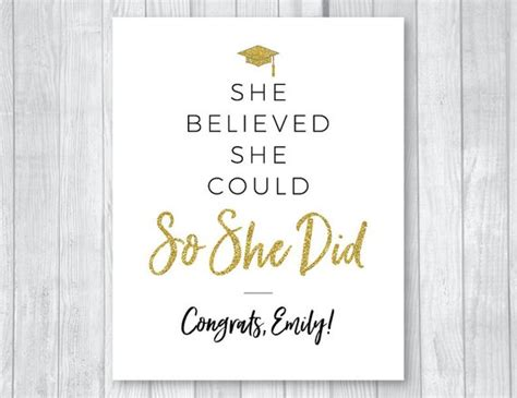 believed      printable class   graduation invitations  party signs