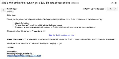 Survey Invitation Email Sample