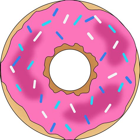 Donut Images Dessert Donut Pink Sing 183 Free Vector Graphic On Pixabay