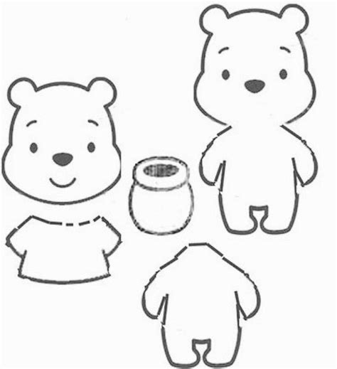 Winnie The Pooh Templates by Pooh Template Coloring Pages Basic Patterns Templates