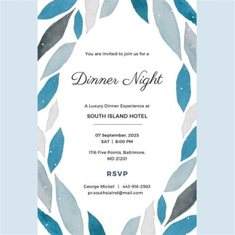 54+ Dinner Invitation Designs PSD AI Free & Premium
