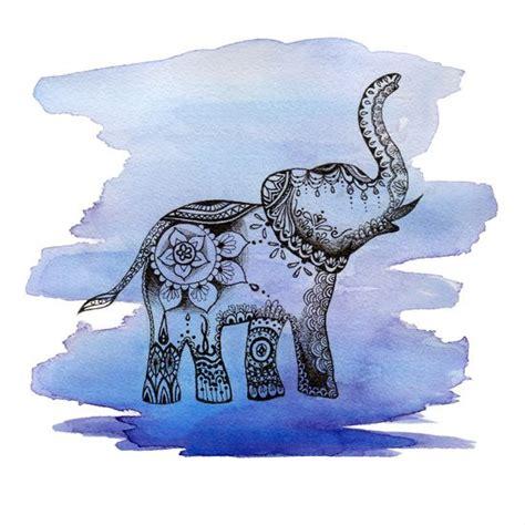 watercolour mandala elephant tattoo tattoo pinterest