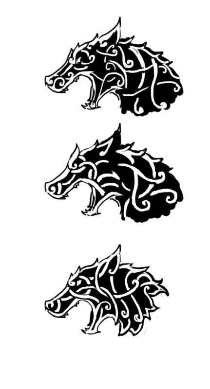 celticviking wolf tattoo design viking  celtic