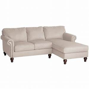 Alton ecru 2 piece right arm chaise sectional pier 1 imports for Sectional sofa with chaise clearance
