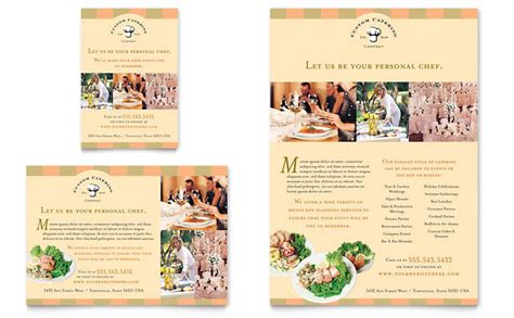 Catering Brochure Templates by Catering Company Flyer Ad Template Design