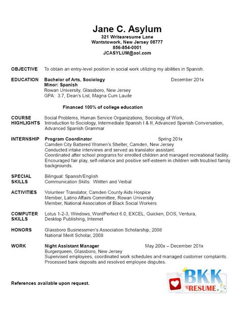 graduate resume templates new grad nursing clinical