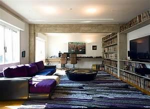 Concreto aparente na decoração de apartamento - Casa e