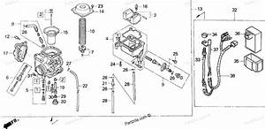 Honda Atv 1999 Oem Parts Diagram For Carburetor