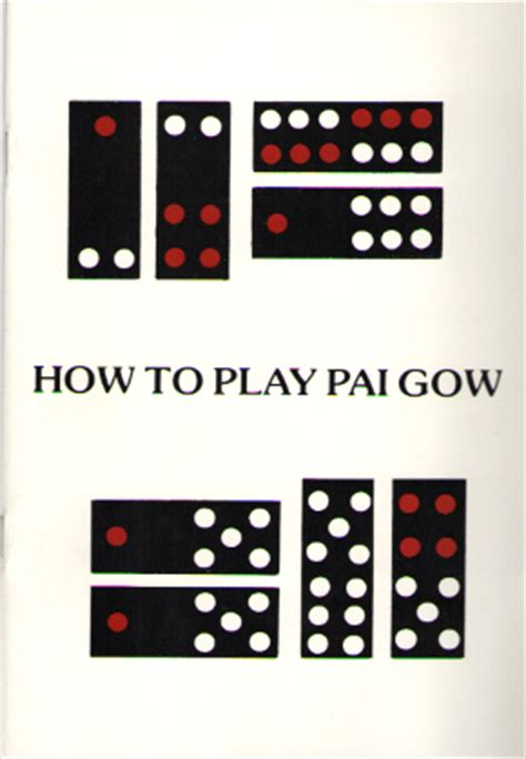 Pai Gow Tiles Ranking by How To Play Pai Gow Tiles Other Board Gamblers