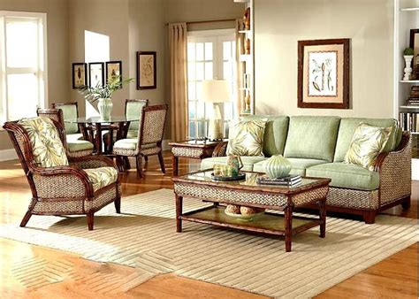 rattan indoor wicker  pc living room set sofa capri wi