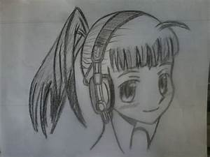 anime girl wearing headphone by i28ve980dianne7799 on ...