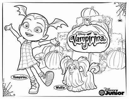 Coloring Vampirina Disney Pages Activity