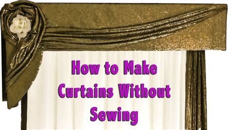 How To Make Drapes Without Sewing - how to make curtains without sewing