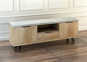 Meuble Tv Beton : meuble tv orlando chene beton ~ Teatrodelosmanantiales.com Idées de Décoration