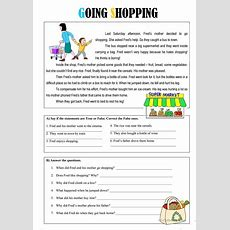 Going Shopping Worksheet  Free Esl Printable Worksheets Made By Teachers  English Reading
