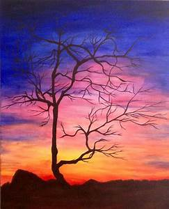 Sunset acrylic paintings on Behance | painting | Pinterest ...