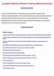 Lg 50pc55 50pc55 Zb Plasma Tv Service Manual By