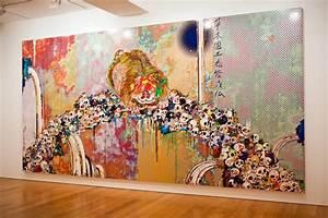 takashi murakami flowers skulls exhibition gagosian