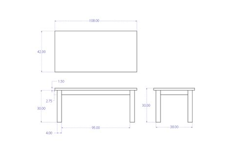 95 standard dining table dimensions mm standard