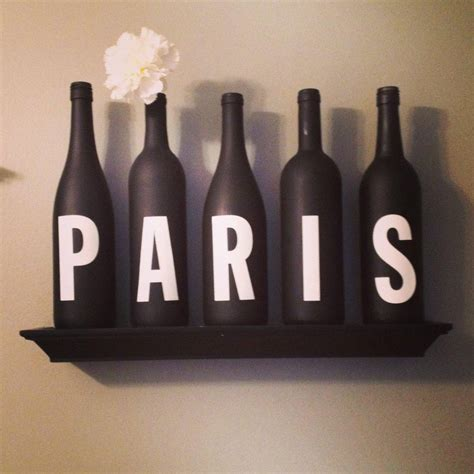 ideas  paris themed stickers wall art ideas