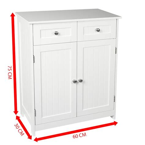 2 Door Cabinets by Priano Bathroom Cabinet 2 Drawer 2 Door Storage Cupboard
