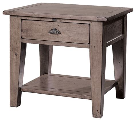 side table with drawer and shelf reclaimed solid wood end table with drawer and shelf