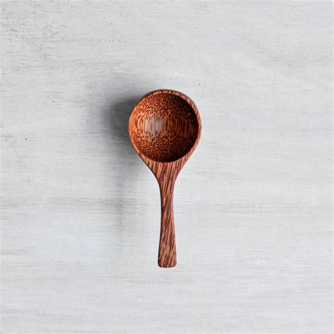Portion scoop conversion varies to different size of a scoop volume. Coconut Wood Coffee Scoop By Nom Living ...