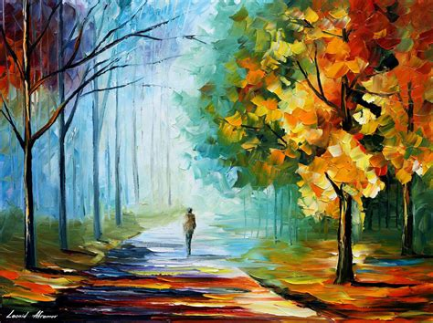 fog palette knife oil painting  canvas