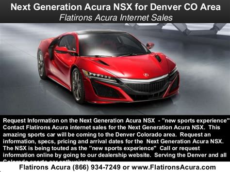 Flat Irons Acura by Next Generation Acura Nsx Coming To Denver Colorado Area