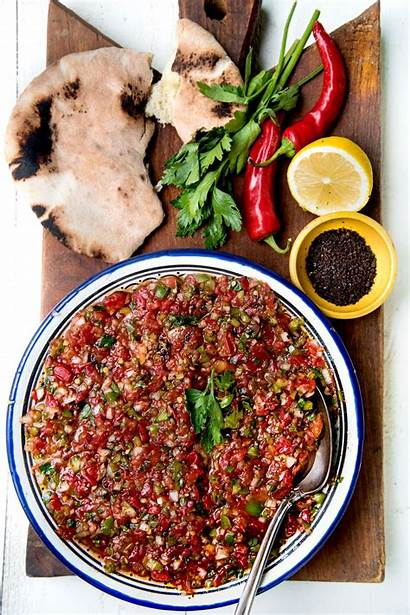 Turkish Salad Ezme Spicy Recipe Recipes Greens