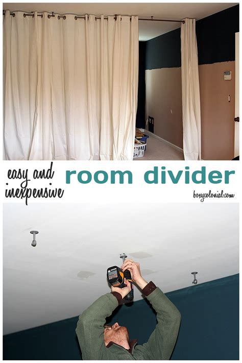 make this room divider from ikea curtain panels and a