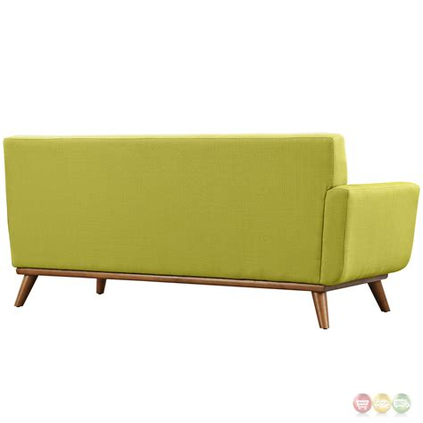 engage modern button tufted upholstered left arm loveseat