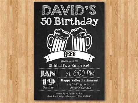 Beer party invitation 50th birthday invitation Surprise