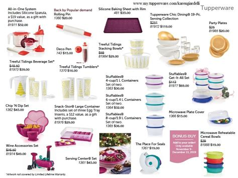 tupperware specials friday along posted check website