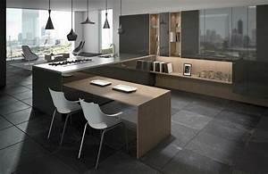 Table Cuisine Petit Espace : cuisine en u ouverte pour tout espace 60 photos et conseils ~ Teatrodelosmanantiales.com Idées de Décoration
