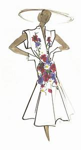 carven croquis robe a fleurs fashion illustration draw With croquis robe