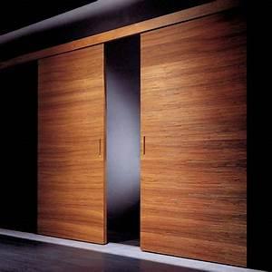 Porte coulissante bois haut de gamme malouet design for Porte coulissante haut de gamme