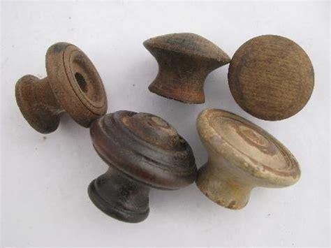 Antique Hardware Lot, Primitive Old Wood Drawer Pulls
