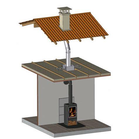 installation po 234 le bois avec conduit de fumee inox chauffage bois granule
