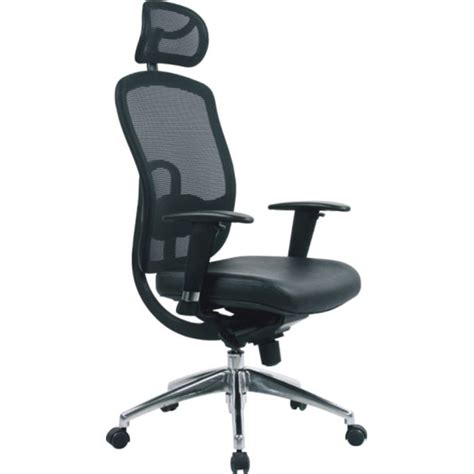 mesh high back executive office arm chair with adjustable