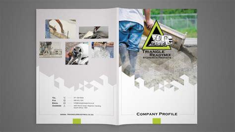 triangle readymix company profile design