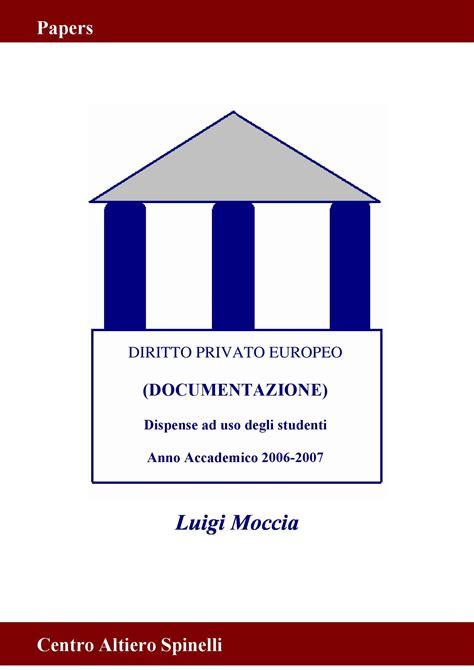 dispensa di diritto privato diritto privato europeo concorrenza contratti e