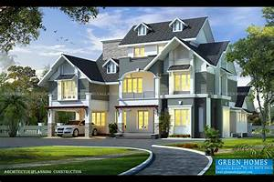 Green Homes: Awesome European Style House in 3650 Sq.Feet