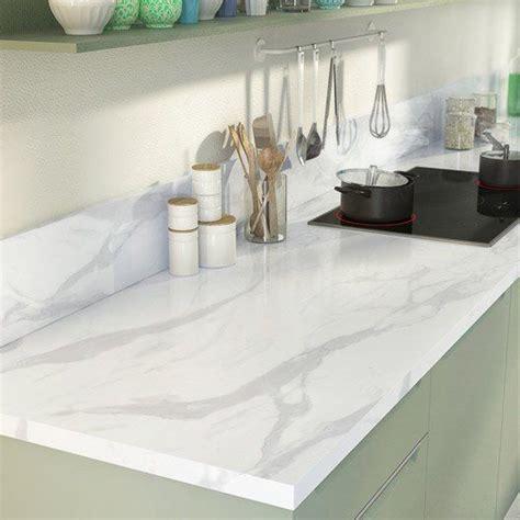 cuisine plan de travail marbre plan de travail droit stratifié marbre blanc 315 x 65 cm