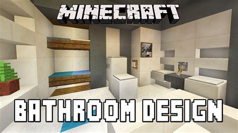 minecraft tutorial   build  modern house ep bathroom furniture design ideas youtube