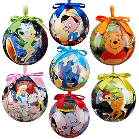world of disney decoupage ornament set 7 pc bambi pooh tinkerbell pinocchio ebay